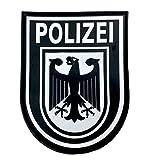 Polizei Policía Águila Alemana Negro Sometido Tactical Airsoft Paintball PVC Morale Parche