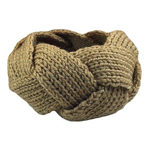 Parfait filles tricot Knit Bandeau Serre-tête tressé bande de cheveux, Kaki