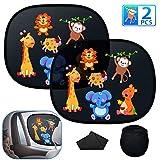 Oziral Parasole per Auto, [2 Pezzi] parasole auto neonati e bambini Tendine Autoadesive pe...