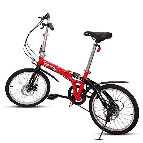 """Sport im Freien Pendler City Rennrad Fahrrad Mountain Erwachsene Unisex Falträder 20 \""""6-Gang-Faltrad aus kohlenstoffhaltigem Stahl mit hohem Kohlenstoffgehalt Leichtes tragbares Doppelscheibenbrems"""