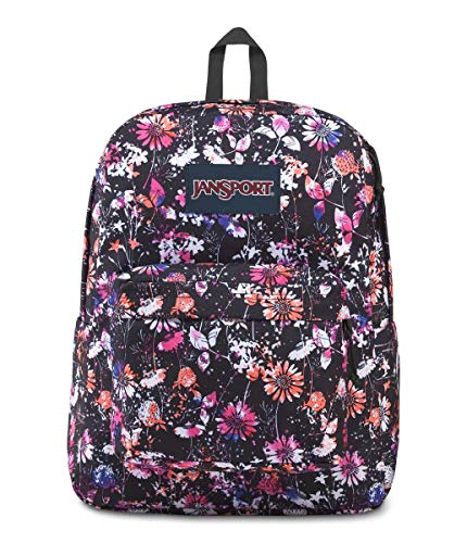 JanSport Superbreak Backpack - Lightweight School Pack, Chroma Floral