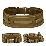 Huntvp® Cinturone Molle Cintura Tattica Militare Imbottita per Softair Caccia Outdoor Trekking