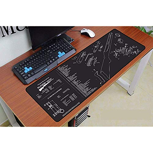 Muismat Creatief Zwart Engels Lettertype Grote Gaming Mouse Pad Game Precision Lock Edge Skid Player Snelheidsregeling Laptop Toetsenbord Mat 40 * 90cm
