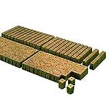 50 UNIDS 36x36x40mm Planta de lana de roca Arranque Crecen los cubos de conexión para el jardín Invernadero Huerto Sun Room Aplicaciones hidropónicas