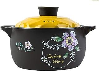 Casserole Ceramic Casserole High Temperature Health Soup Pot Household With Lid Pot Claypot Rice Casserole High Temperatur...
