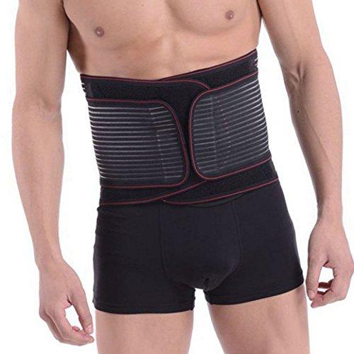 Aivtalk Faja Lumbar Cinturón Protector de Cintura/Espalda Ajustable Elástica para Hombre Talla XL ⭐