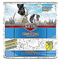Super soft, odour control bedding safe for pets and won't stain their cage Highly absorbent - absorbs 6 times its weight in liquid, 2 times more than wood shavings Clean & Cozy Bedding is 99.9 percent dust free, which helps prevent respiratory issues...