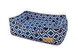 P.L.A.Y. PET LIFESTYLE AND YOU P.L.A.Y. - Moroccan Lounge Bed - Large - Navy