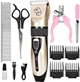 PEYOU Dog Clippers, Professional Grooming Dog Clippers USB Rechargeable Low Noise Cordless Pet