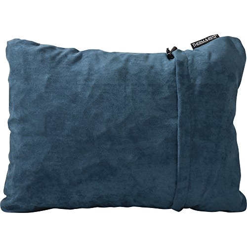 Therm-a-Rest Compressible Travel Pillow for Camping, Backpacking, Airplanes and Road Trips, Denim, Large - 16 x 23 Inches