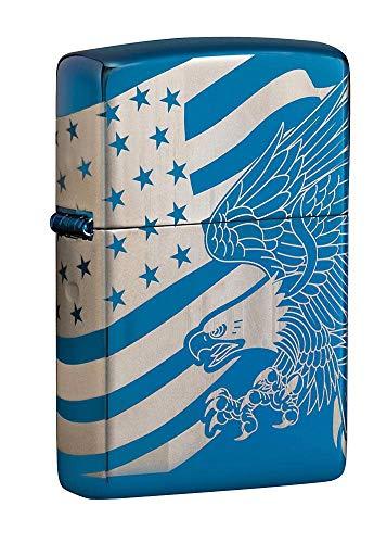 Zippo Patriotic Design Pocket Lighter, Blue, One Size