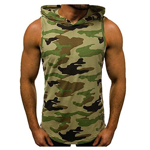 Los hombres de verano con capucha sin mangas sin mangas camiseta masculina casual slim fit delgado transpirable chaleco deportivo Tops gimnasio ropa fitness Singlet
