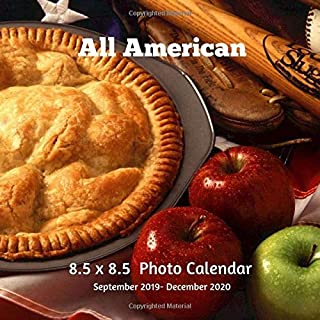 All American 8.5 X 8.5 Photo Calendar September 2019 -December 2020: Monthly Calendar with U.S./UK/ Canadian/Christian/Jewish/Muslim Holidays- USA United States of America