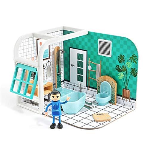 Casa de muñecas Casa de muñecas de madera de juguete niña 4-6 años niña princesa DIY Casa jugar a las casitas niños regalo de cumpleaños de padres e hijos juguetes interactivos juguete Casa de muñecas