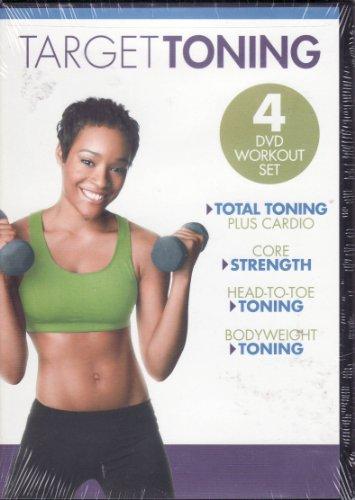 Gaiam Target Toning 4 DVD Workout Set Total Toning Plus Cardio / Core Strength / Head to Toe Toning / Bodyweight Toning