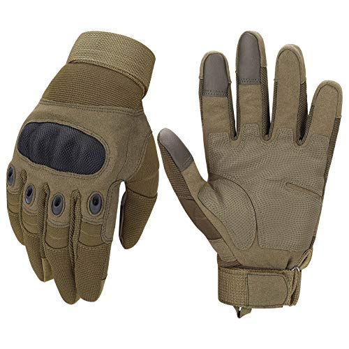 Tactical Gloves,Touchscreen Military Gloves with Hard Knuckle for Hunting Shooting Hiking Airsoft Camping Paintball Army Training