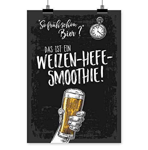 Prints Eisenherz SO FRÜH Schon Bier Kunstdruck Poster (A4)