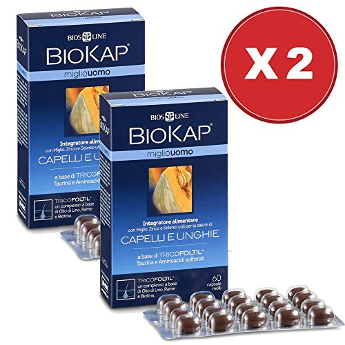 Biokap Miglio Uomo 2 Confezioni Da 60 Capsule - Biosline