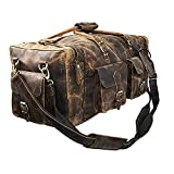 Large 24 inch duffel bags for men holdall leather travel bag overnight gym sports weekend bag