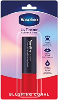 Vaseline Lip Therapy Color & Care, Blushing Coral, 4.2g - Pack of 1