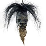 Asylum Zone Shrunken Head Native Voodoo w/Hair & Stand