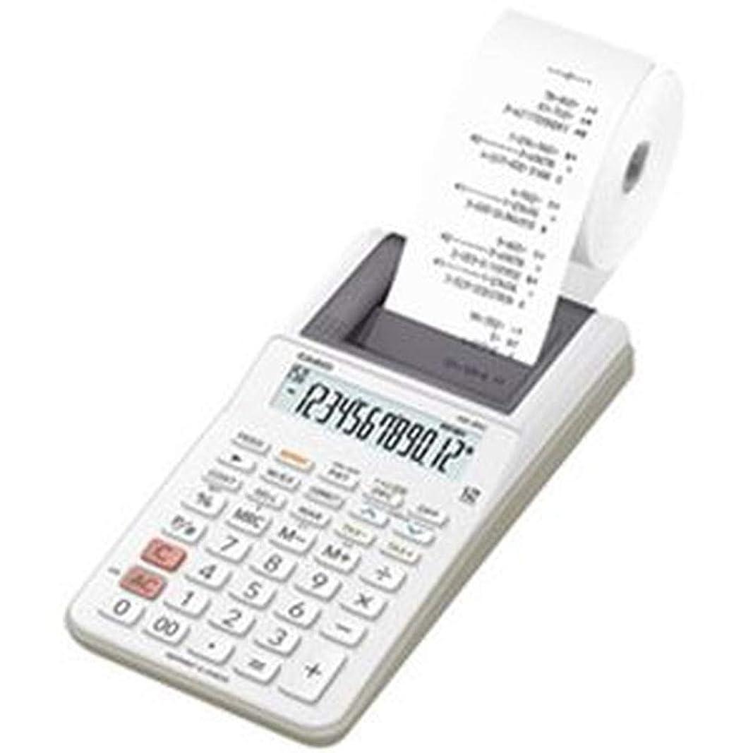 イタリアの申し立てる額カシオ計算機?プリンター電卓?HR-8RCWE?1台