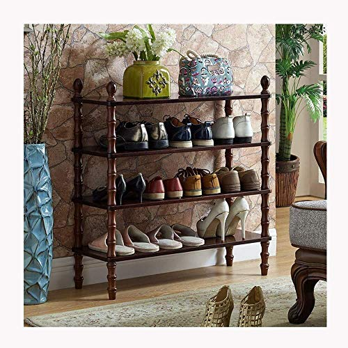 Schoenenrek multi-layer eenvoudige home Planken Multilayer European Style Simple Storage Rack met grote capaciteit eenvoudig te monteren Walnoot Shoe Rekken Ruimtebesparend opbergrek