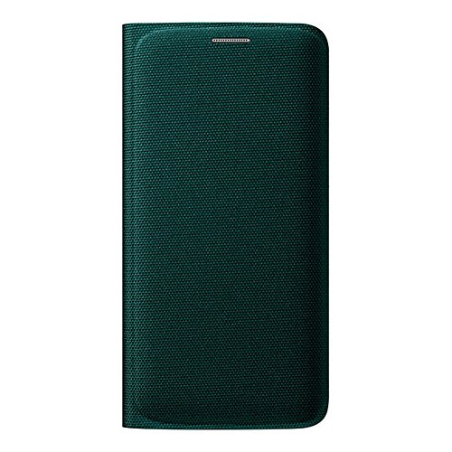 Samsung Wallet Flip Cover Textil Schlank Etui (EF-WG925B) fur Samsung Galaxy S6 edge G925, Retail Verpackung - Grun Textil