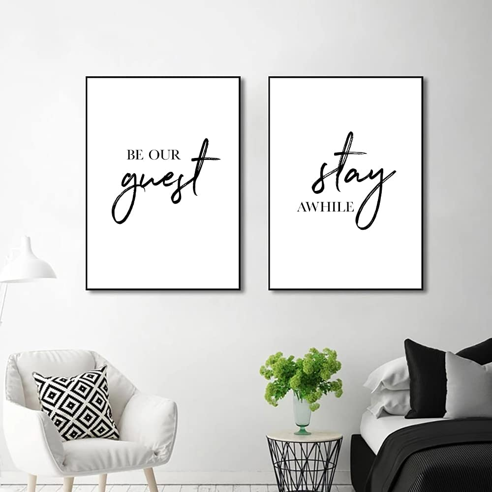 Buy Be Our Guest Sign Wall Decor for Guest Room Minimalist Wall ...