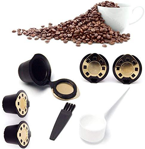 EPRHAY 1 wiederverwendbare Nespresso-Kapseln, nachfüllbare Kapseln, 1 Tasse, Kaffee-Filter, umweltfreundlicher Edelstahl-Mesh-Filter, Kapselhülle für Nespresso-Maschinen mit Kaffeelöffel
