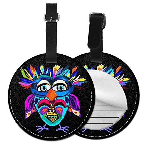 Luggage Tags Cool Owl Suitcase Luggage Tags Business Card Holder Travel ID Bag Tag
