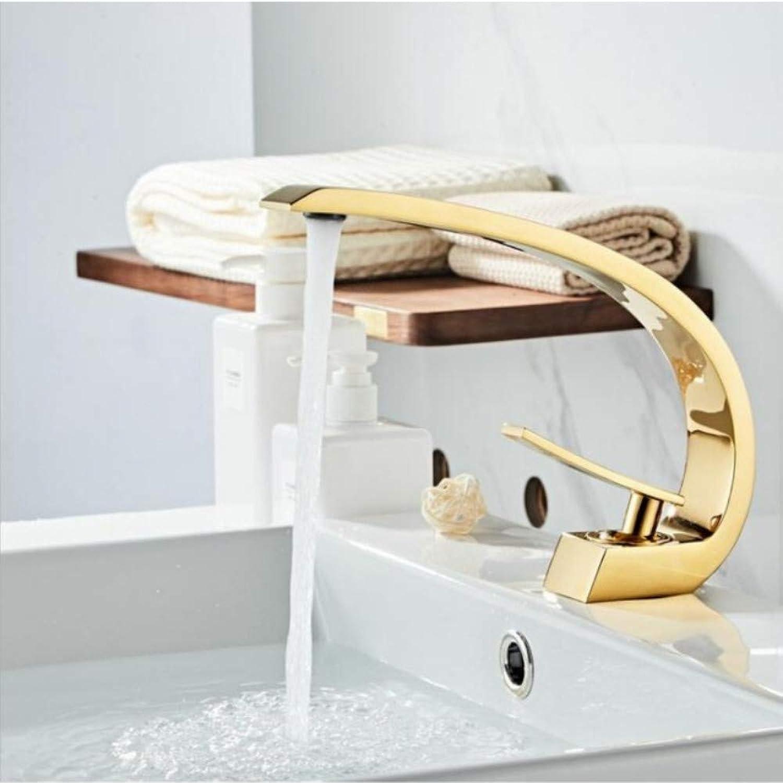 Lddpl Wasserhahn Waschtischarmaturen Moderne Bad Mischbatterie RoséGold Waschtischarmatur Einhand Einlochmontage Heien und Kalten Wasserfall WasserhahnXT-419