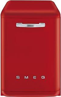 Smeg LVFABRD Independiente 13cubiertos A+++ lavavajilla - Lavavajillas (Independiente, Rojo, Plata, Botones, 13 cubiertos, 42 dB)