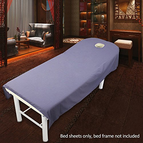 Massage Sheet Cover, SPA Massage Couch Cover met gezicht gat, Beauty Salon Spa Massage Tafelkleed Bed Sheet Cover 80x190cm Paars