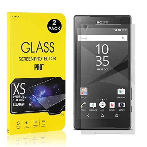SONWO Schutzfolie Kompatibel für Sony Xperia Z5 Compact, 9H Härte, Anti-Kratzen, Anti-Öl, Anti-Bläschen, lebenslange Garantie, 2 Stück