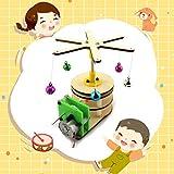 Ensamble Modelo de carrusel de madera, juguete de bricolaje eléctrico ensamblado Juego de experimento educativo de la ciencia del estudiante Merry-Go-Round Motor Drive Set