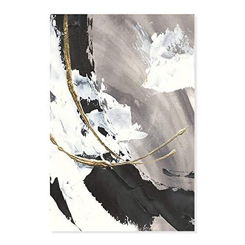 Pintura al óleo retro abstracta cartel moderno arte de la pared en la decoración de la mesa imagen de la sala de estar decoración interior sin marco A44 70x100cm