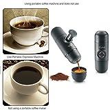 Notika Portable Manual Pressure Espresso Machine Maker, Preup Mini Hand Held Coffee Maker For Camping Black --US Seller Fsst Shipping