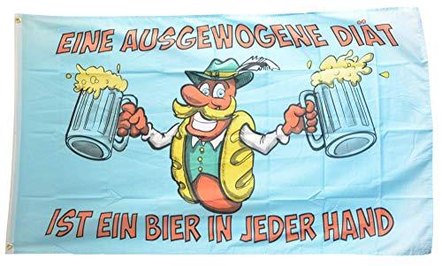 Flaggenfritze® Flagge/Fahne Bier ist eine ausgewogene Diät - 90 x 150 cm