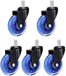 Wivarra for Office Chair Casters Wheels,3Inch Replacement Chair Caster Wheels,Smooth Rolling Chair Wheels Universal Set of 5