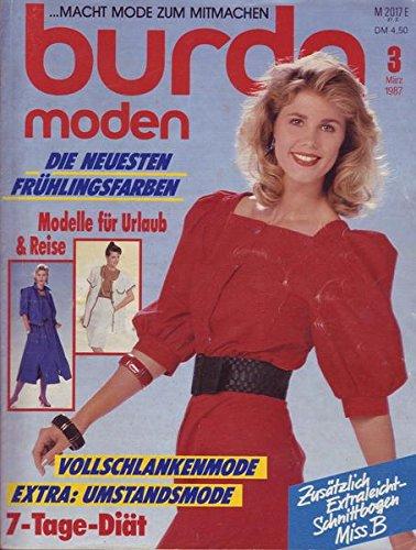 Burda Moden 3 März 1987 Die neuesten Frühlingsfarben