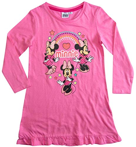 Minnie Mouse Nachthemd Nachtwäsche Nachtrobe Disney (Rosa, 128)