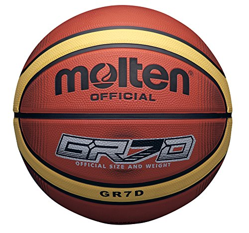 Molten 33 Libertria Deep Channel - Pelota de baloncesto, color naranja, talla 6