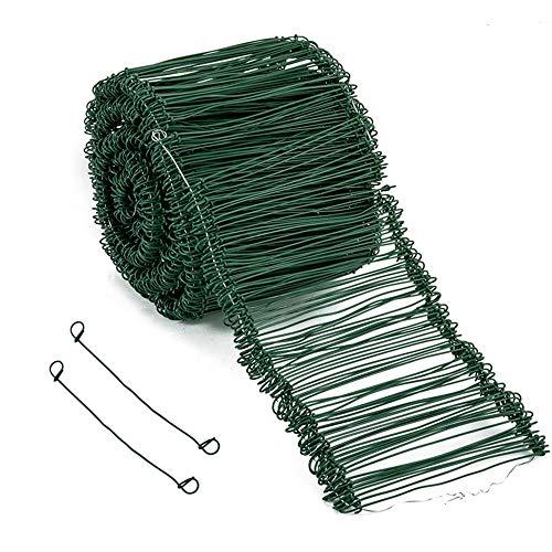 Amagabeli 1.4MM X 16CM X 1000 Pezzi Passanti in Fil di Ferro di Plastica Fermacavi in Metallo a Doppio Anello per Cui Legare Sacchi da Giardino Sacchi Alimentari e Altri Materiali da Costruzione