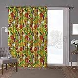 YUAZHOQI cortinas correderas de cristal, verduras, calabacín de berenjena, maíz, 100 x 108 pulgadas, protección de privacidad para sala de estar (1 panel)