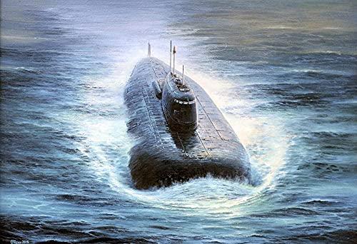 NSRJDSYT 1000 Piezas de Rompecabezas para Adultos Submarino Nuclear Submarino Militar de la Marina Rusa, Rompecabezas de Papel, Juguete de Ocio, Juego Educativo de Intelectual, del hogar, Regalo de