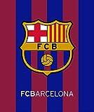 FCB Fc Barcelona Plush Raschel Throw Blanket with Sherpa Lining 50x60 1