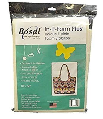 Bosal 493-18 In-R-Form Double Sided Fusible Foam Stabilizer, 18x58-Inch