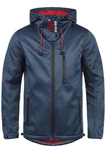 !Solid Iacopo Herren Softshell Jacke Funktionsjacke Übergangsjacke Mit Kapuze Und Fleece-Futter, Größe:L, Farbe:Insignia Blue Melange (8991)