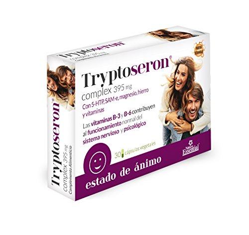 Tryptoseron® 395 mg. 30 capsulas vegetales con triptófano, SAMe, magnesio, hierro y vitaminas B-3, B-5 y B-6